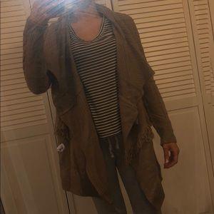 Forever 21 tan sweater cardigan medium